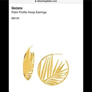 GORJANA New SUMMER Palm Leaf Hoop Earrings